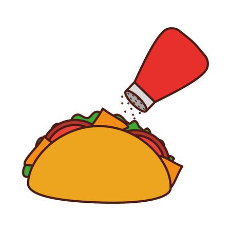 fast food taco mexican menu restaurant vector illustration Illustration
