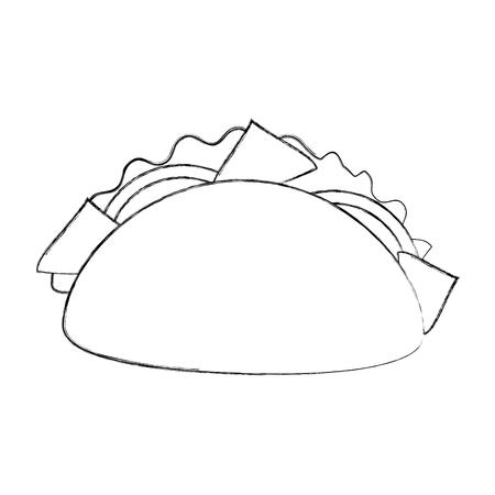ファーストフード タコス メキシコ メニュー レストラン ベクトル図