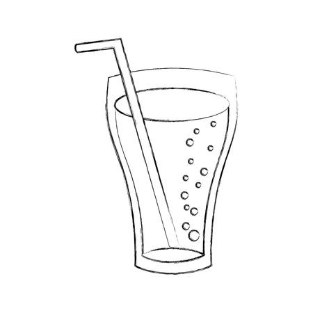 유리 컵 콜라 음료 거품 refresment 액체