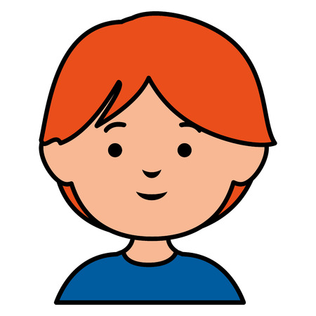cute little boy avatar character vector illustration design 向量圖像