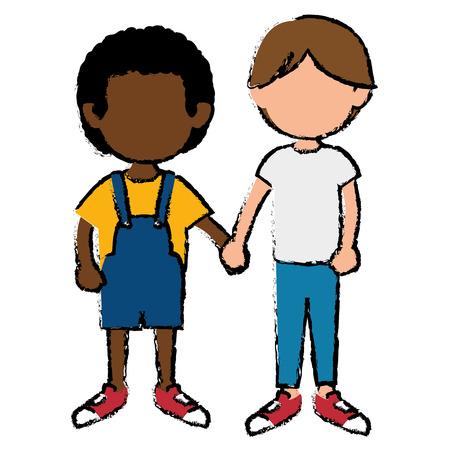 broers groep avatars karakters vector illustratie ontwerp Stock Illustratie