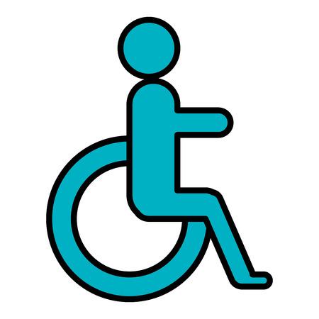 gehandicapten teken geïsoleerd pictogram vector illustratie ontwerp Vector Illustratie