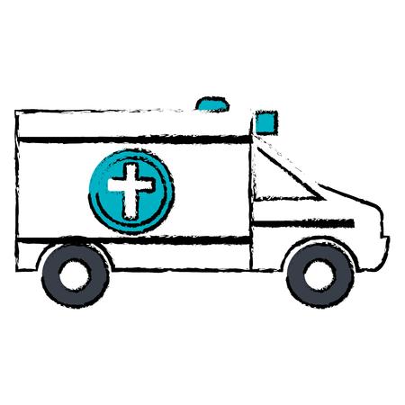ambulance vehicle isolated icon vector illustration design Ilustracja