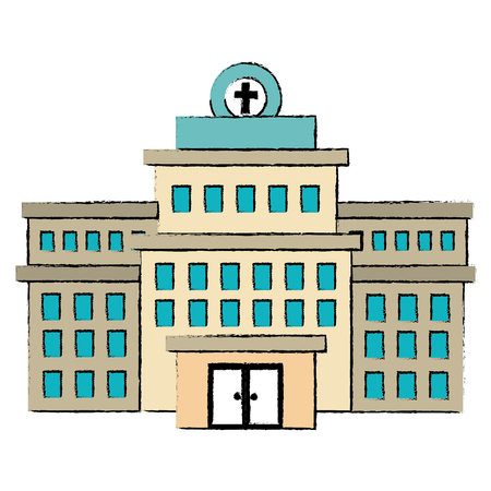 hospital building isolated icon vector illustration design Stock Illustration - 86267458
