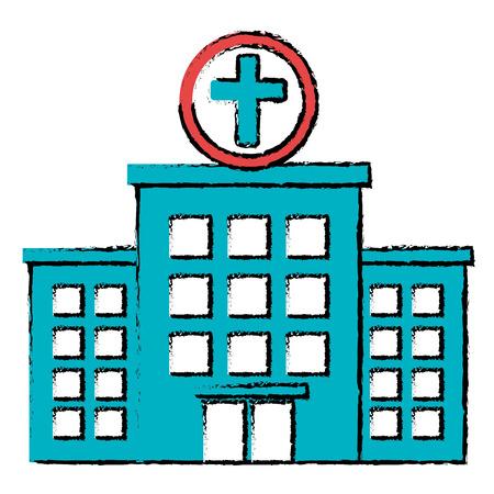 Bâtiment d & # 39 ; hôpital isolé icône du design illustration vectorielle Banque d'images - 86267462