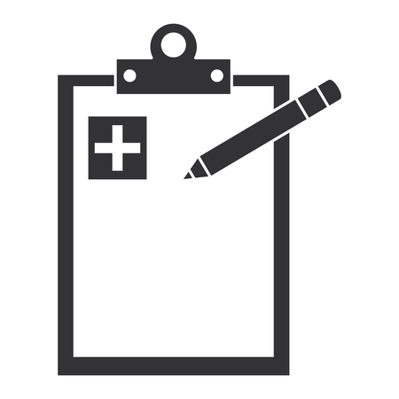medical order with pencil writing vector illustration design