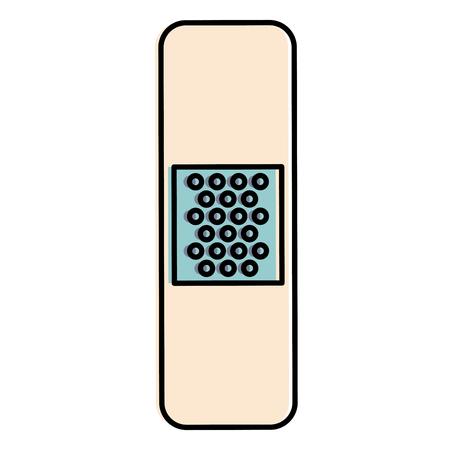 Genezing verbanden geïsoleerd pictogram vector illustratie ontwerp Stockfoto - 86100137