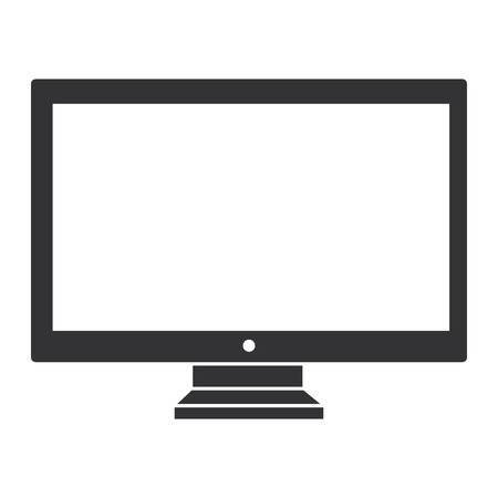 lcd display: computer display isolated icon vector illustration design