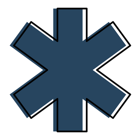 교차 의료 절연 아이콘 벡터 일러스트 디자인 스톡 콘텐츠 - 86267469