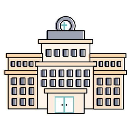 Bâtiment de l'hôpital icône isolé illustration vectorielle conception Banque d'images - 86195354