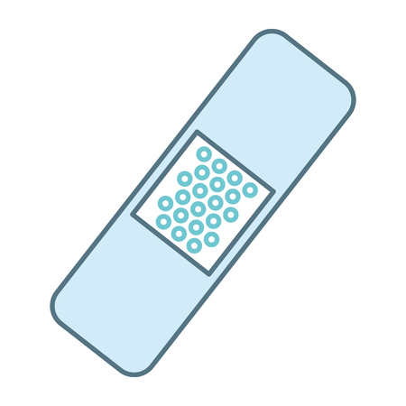 cure bandages isolated icon vector illustration design Illustration