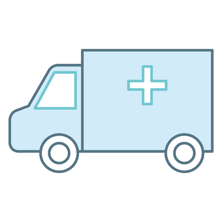 ambulance vehicle isolated icon vector illustration design Illustration