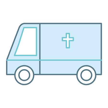 ambulance vehicle isolated icon vector illustration design Zdjęcie Seryjne - 86195363