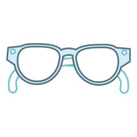 Het pictogramontwerp van oogglazen geïsoleerd pictogram Stockfoto - 86141519