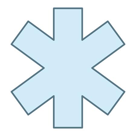kruis medisch geïsoleerd pictogram vector illustratie ontwerp