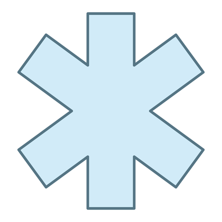cross medical isolated icon vector illustration design