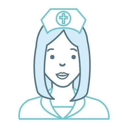 nurse beautiful avatar character vector illustration design Çizim
