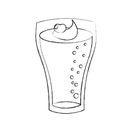 milkshake with cream in glass strawberry drink vector illustration