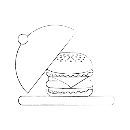 burger fast food tasty delicious snack lunch Ilustracja