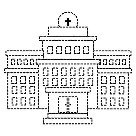 Bâtiment d & # 39 ; hôpital isolé icône du design illustration vectorielle Banque d'images - 86141589