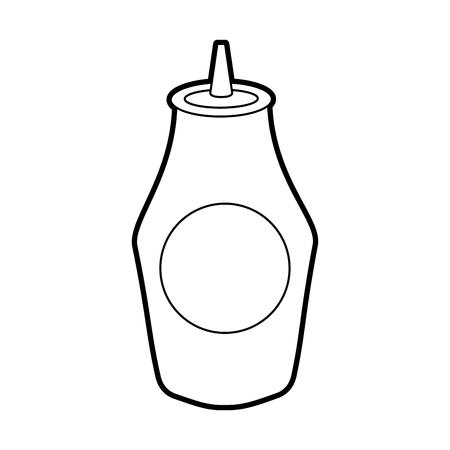 ケチャップソースのボトル成分ファストフードベクターイラスト