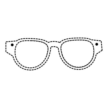 Het pictogramontwerp van oogglazen geïsoleerd pictogram Stockfoto - 86141600
