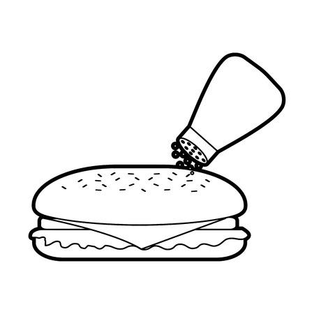 fast food sandwich menu restaurant lunch vector illustration 向量圖像