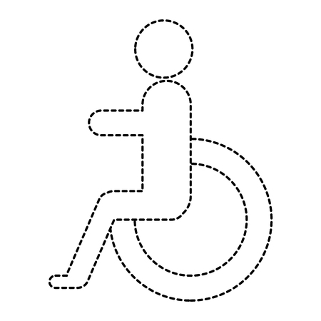 disabled sign isolated icon vector illustration design