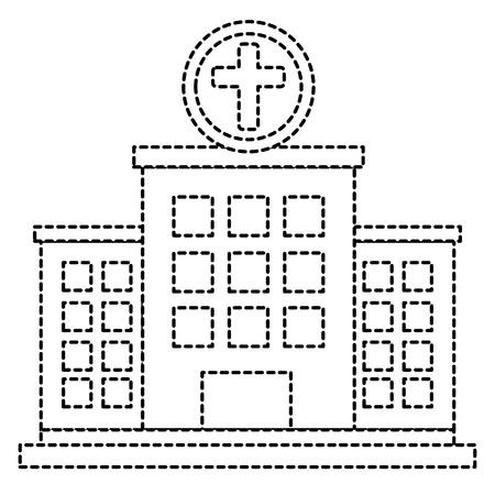 Edificio del hospital icono ilustración vectorial de diseño Foto de archivo - 86141619