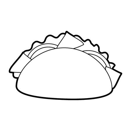 fast food taco mexican menu restaurant vector illustration Ilustração