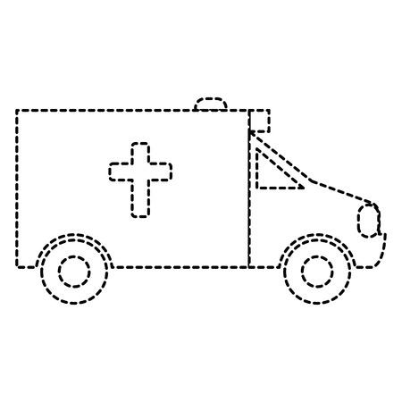 ambulance vehicle isolated icon vector illustration design Illustration