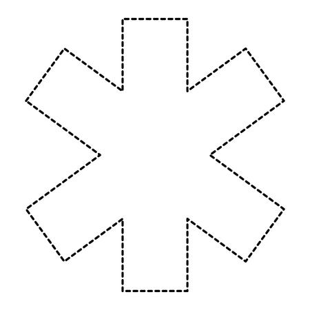 교차 의료 절연 아이콘 벡터 일러스트 디자인 일러스트