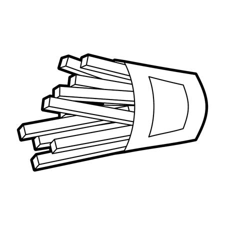 フライドポテトファストフードポテトフレッシュベクターイラスト