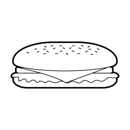 Fast-Food-Sandwich-Menü Restaurant-Mittagessen-Vektor-illustration Standard-Bild - 86141639