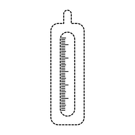 ontwerp van de thermometer het medische geïsoleerde pictogram vectorillustratie