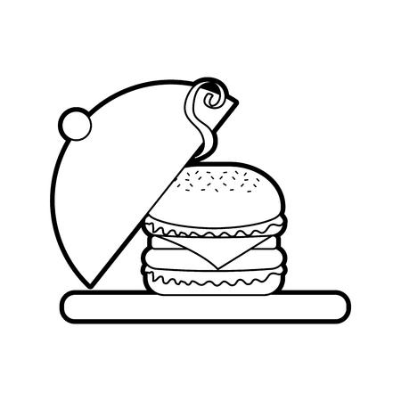 バーガーファストフードおいしいおいしいスナックランチ