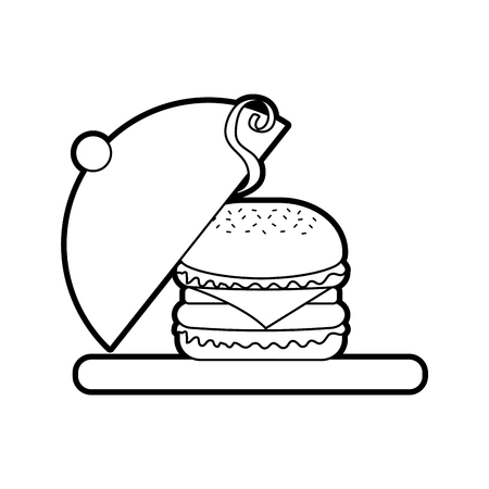 burger fast food tasty delicious snack lunch Ilustrace