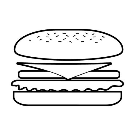 Fast-Food-Sandwich-Menü Restaurant-Mittagessen-Vektor-illustration Standard-Bild - 86141666