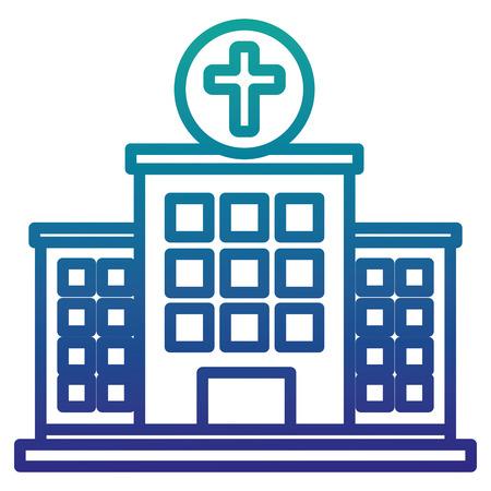 Bâtiment d & # 39 ; hôpital isolé icône du design illustration vectorielle Banque d'images - 86195381