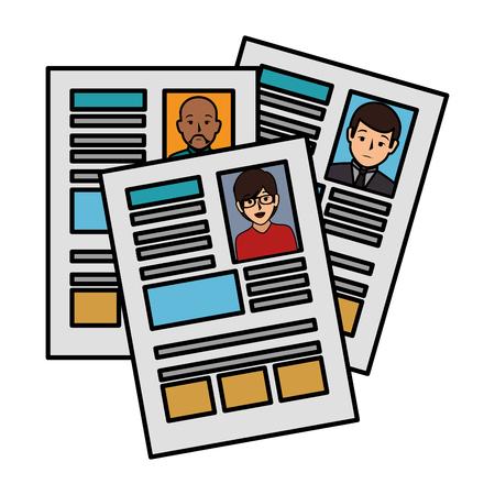 履歴書分離アイコンベクターイラストデザイン  イラスト・ベクター素材