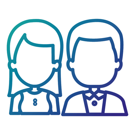 couple businesspeople avatars characters vector illustration design Ilustração
