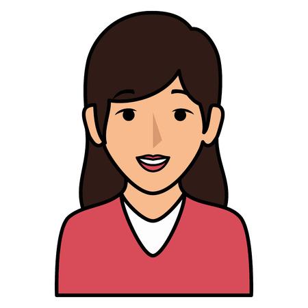 Schöne Frau avatar Charakter Vektor-Illustration Design Standard-Bild - 86141723