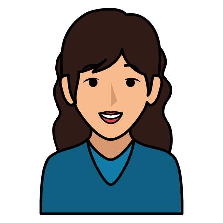 Schöne Frau avatar Charakter Vektor-Illustration Design Standard-Bild - 86141747