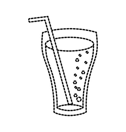 유리 콜라 마시다 거품 액체 벡터 일러스트 레이션