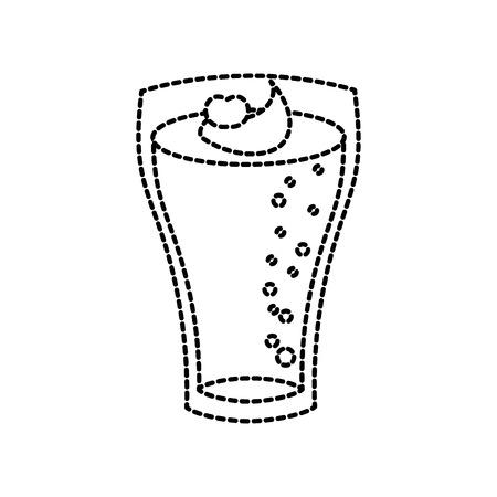 ガラスいちごドリンク ベクトル図にクリームを入れたミルクセーキ