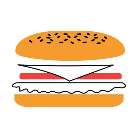 Fast-Food-Sandwich-Menü Restaurant-Mittagessen-Vektor-illustration Standard-Bild - 86100306