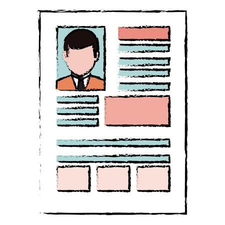 履歴書分離アイコン ベクトル イラスト デザイン 写真素材 - 86100343