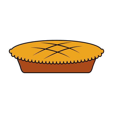pumpkin cake for halloween autumn celebration vector illustration