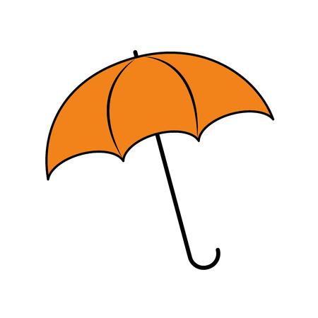 umbrella rainy season protection accessory vector illustration Banco de Imagens - 86100392