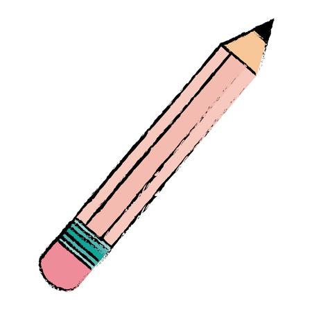 modern office: pencil school isolated icon vector illustration design